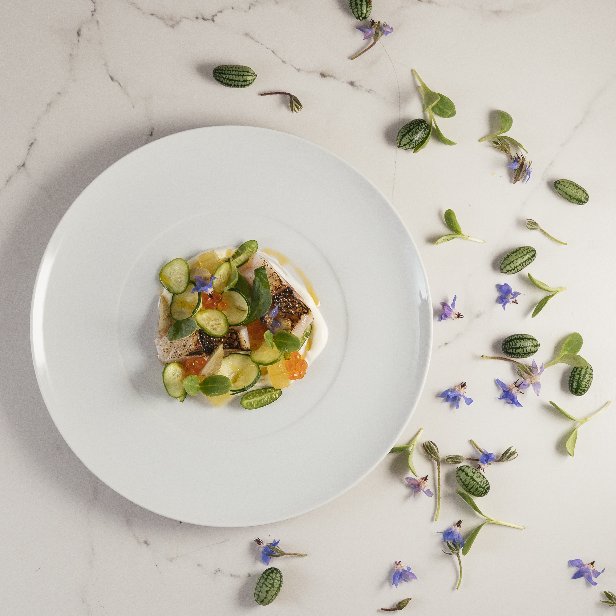 Dish by Le Monument Gourmet Restaurant with chef Julien Montbabut